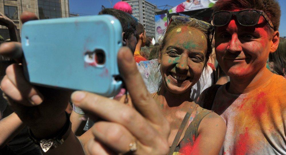 Селфи на Фестивале красок ColorFest