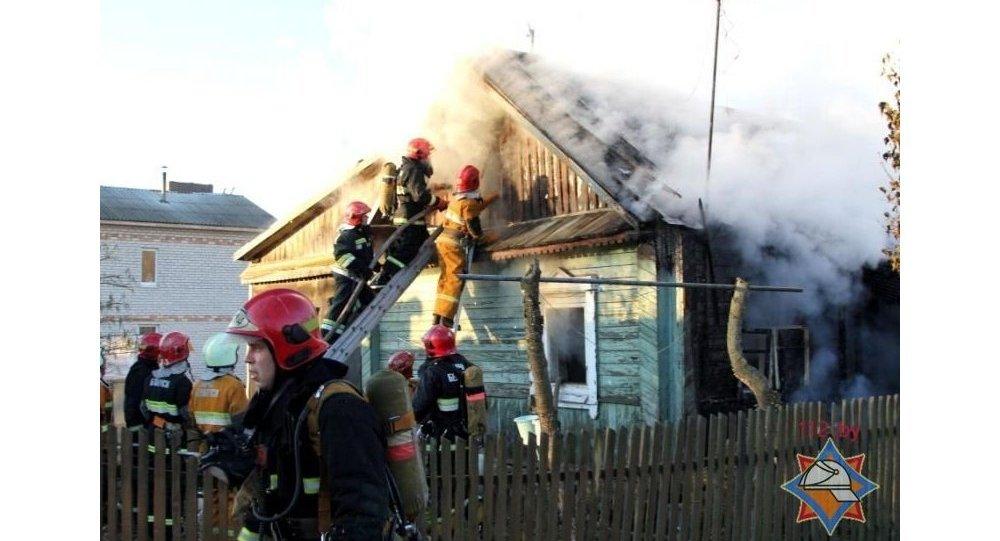 Пожар в Заводском районе Минска. Фото МЧС Беларуси