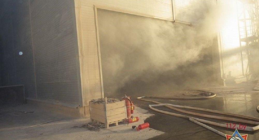 Взрыв на складе в Могилеве