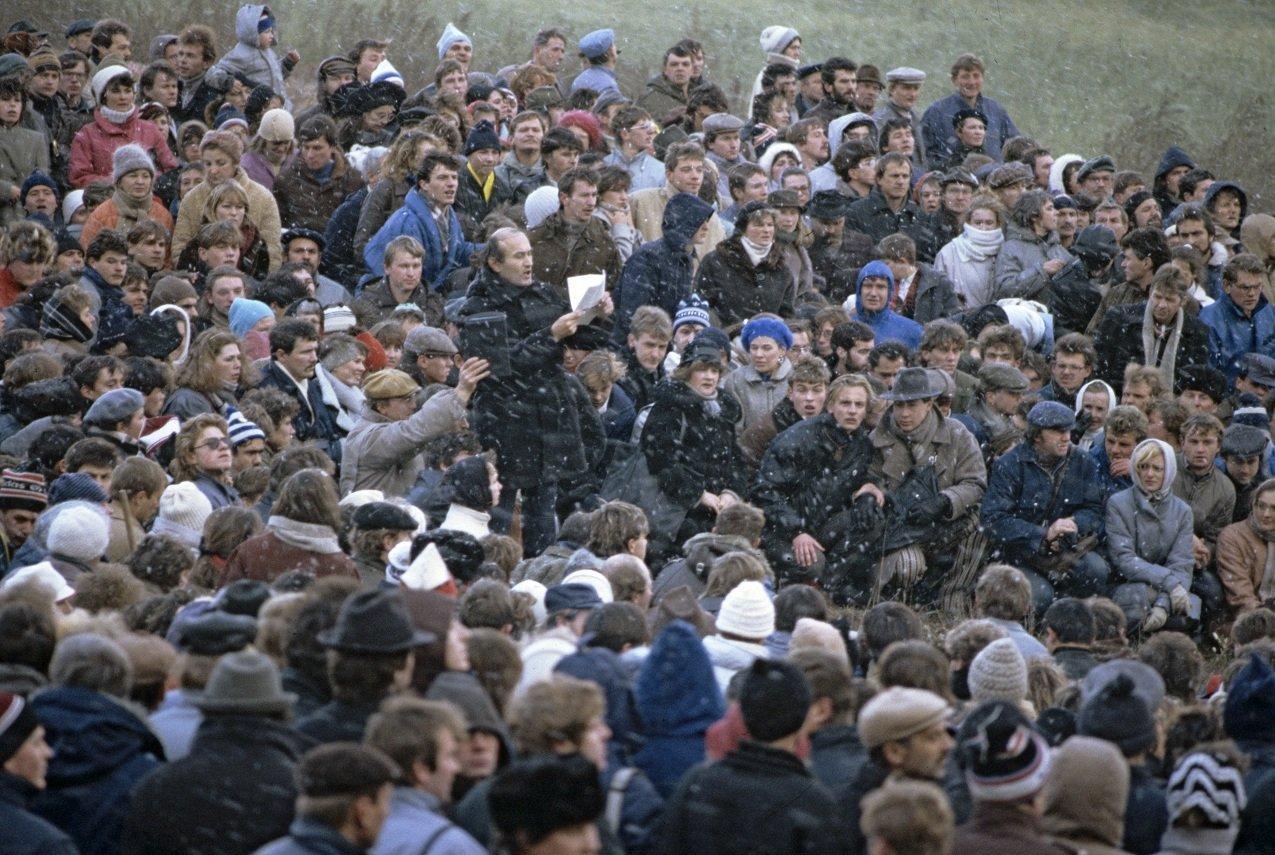 Митинг-реквием в Куропатах, архивное фото