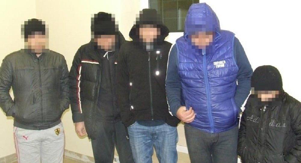 Нелегалы, задержанные на литовско-белорусской границе