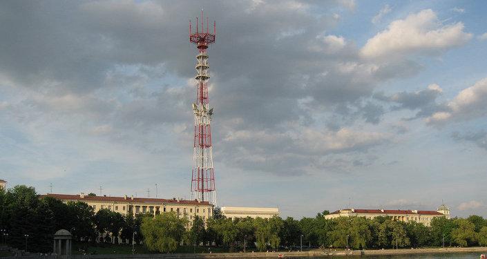 Телевышка в Минске. Вид со Свислочи