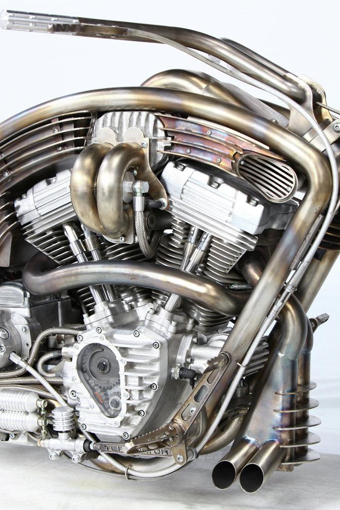 У мотоцикла - 1,5 л мотор Harley-Davidson