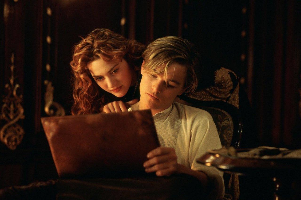 Кейт Уинслет и Леонардо Ди Каприо в фильме Титаник (Titanic, 1997)