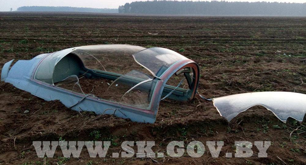 Место крушения МиГ-29 в Брестской области