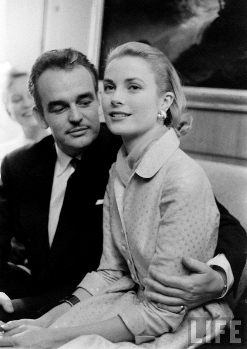 Княгиня Грейс с князем Монако Ренье III Гримальди