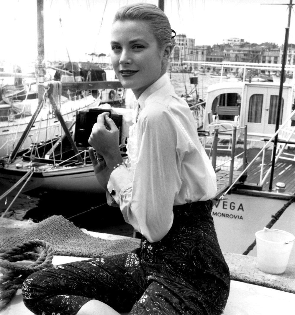 Грейс Келли в Каннах в 1955 г.