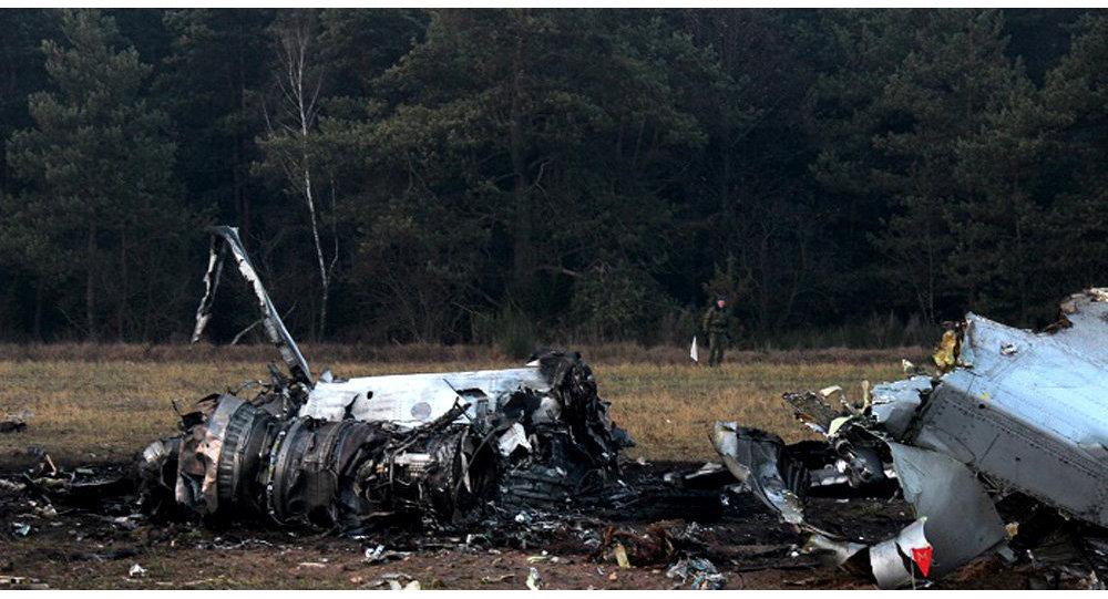 Работа на месте падения военного самолета МиГ-29