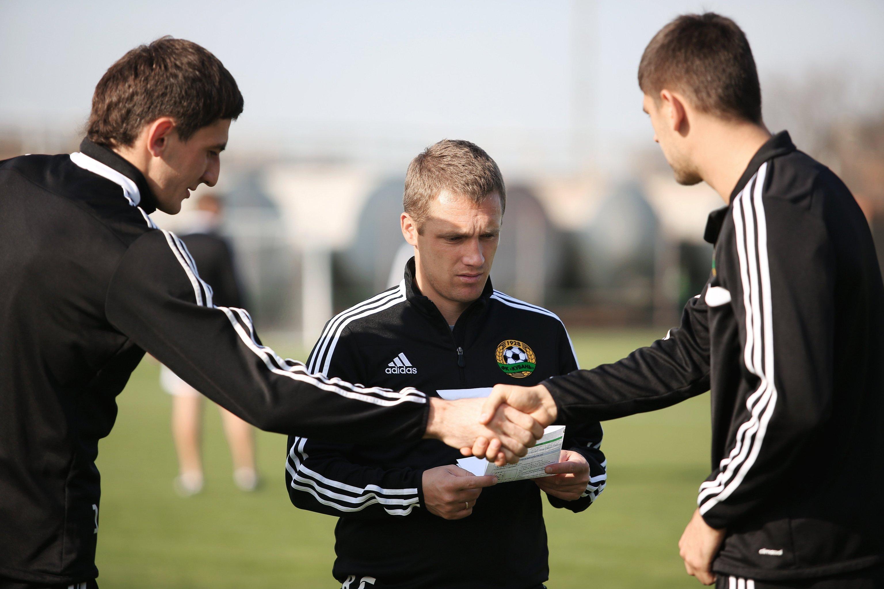 Футбол. Тренировка ФК Кубань