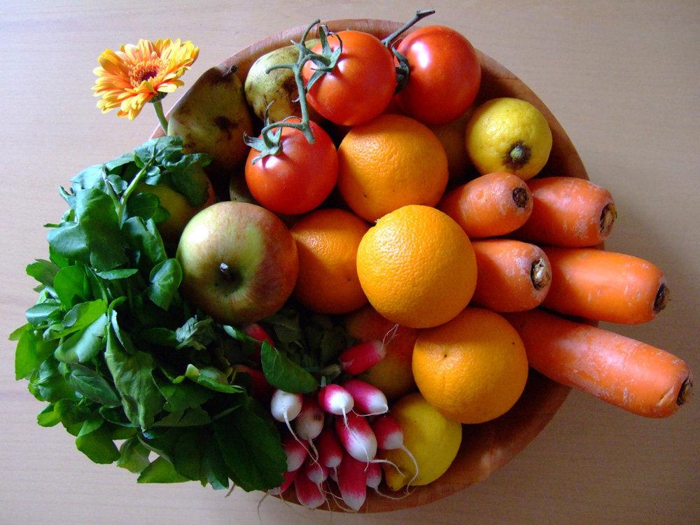 Фрукты и овощи - здоровое питание