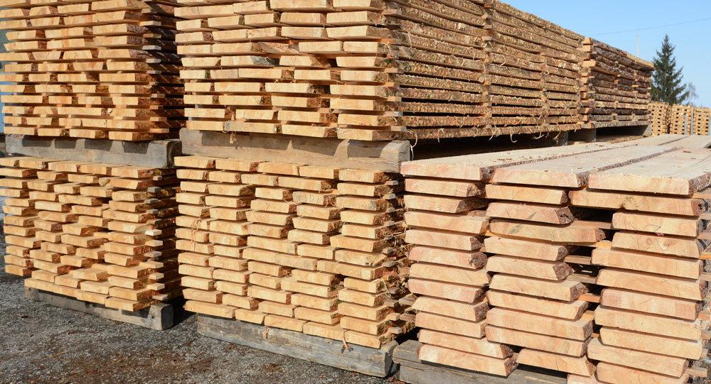 Склад пиломатериалов на лесопромышленном предприятии