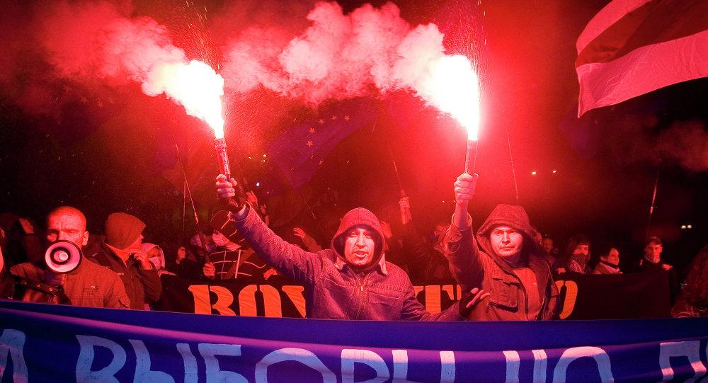 Митинг сторонников белорусской оппозиции в Минске