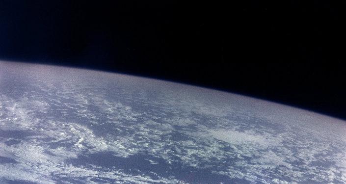 Снимок планеты Земля, сделанный с борта космического корабля