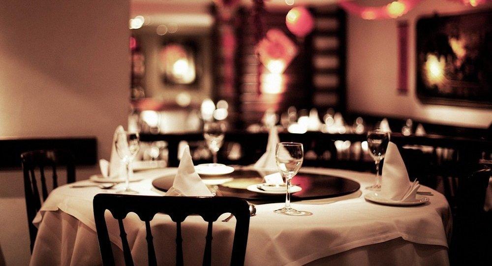 Новогодний интерьер ресторана
