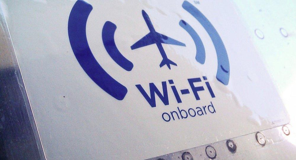 Знак Wi-Fi на борту самолета