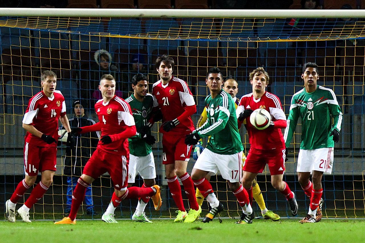 Товарищеский матч Беларусь - Мексика