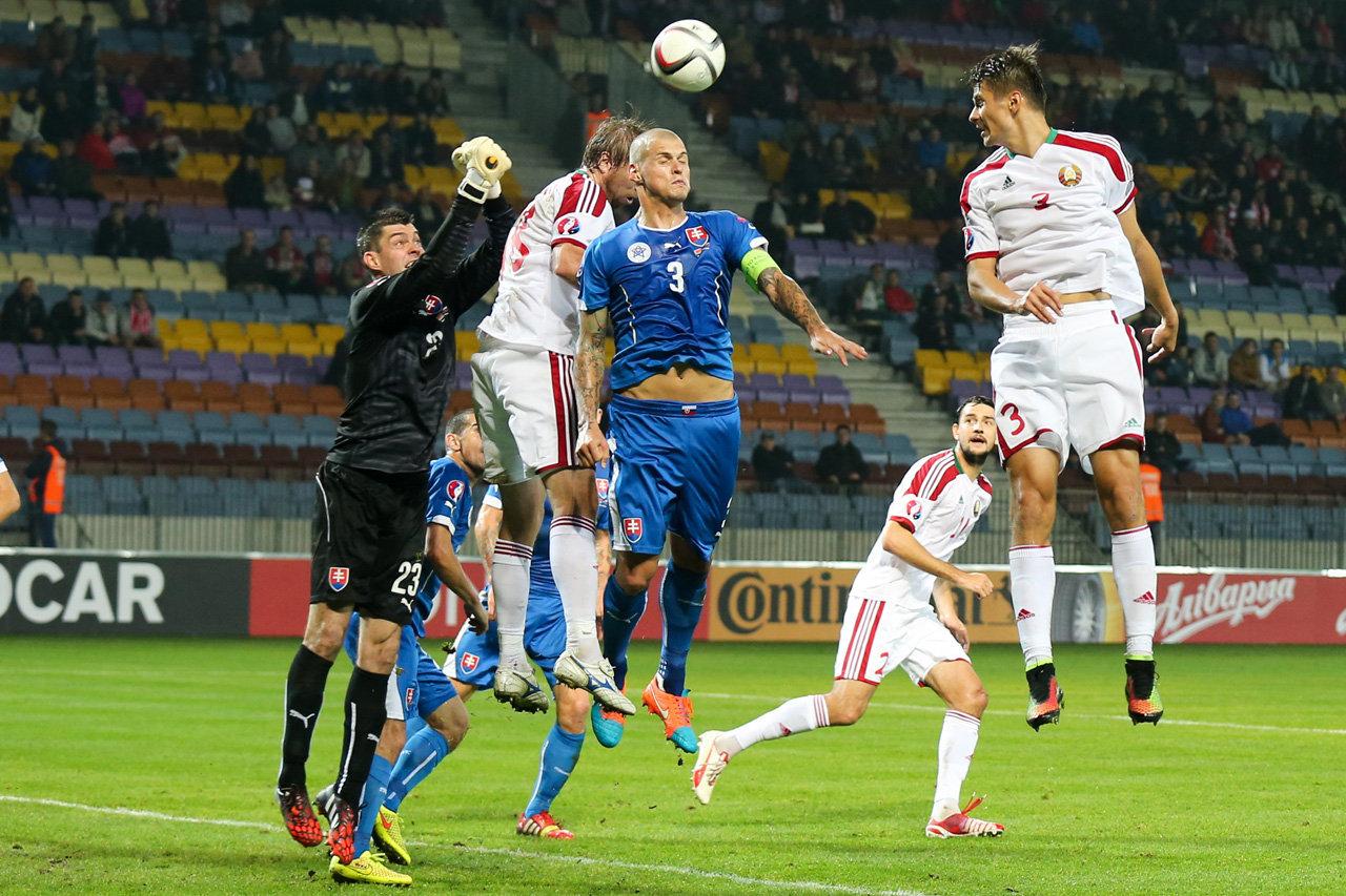 Отборочный матч к ЧЕ-2016 Беларусь - Словакия