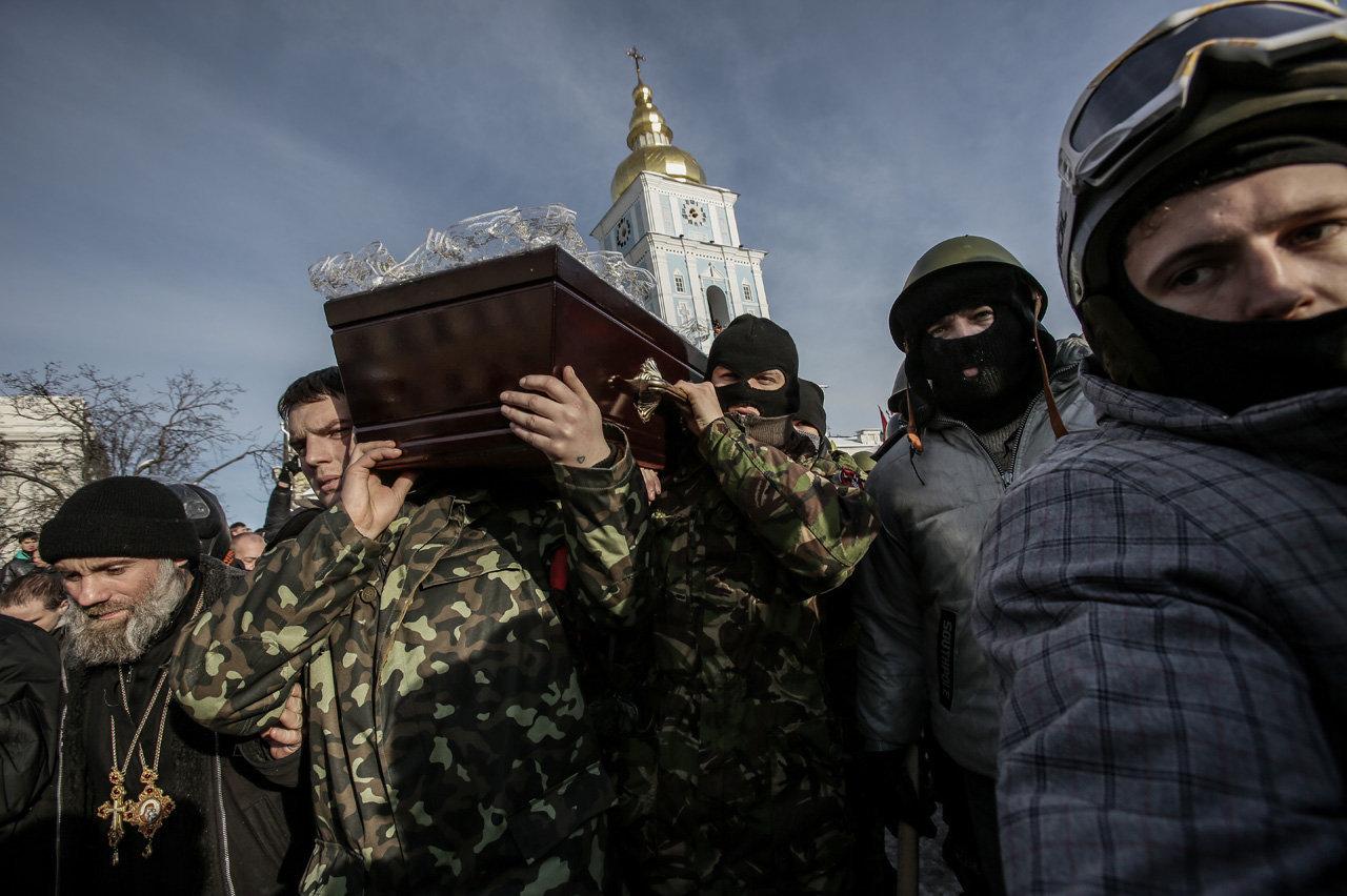 Похороны белоруса Михаила Жизневского, погибшего в результате протестных акций
