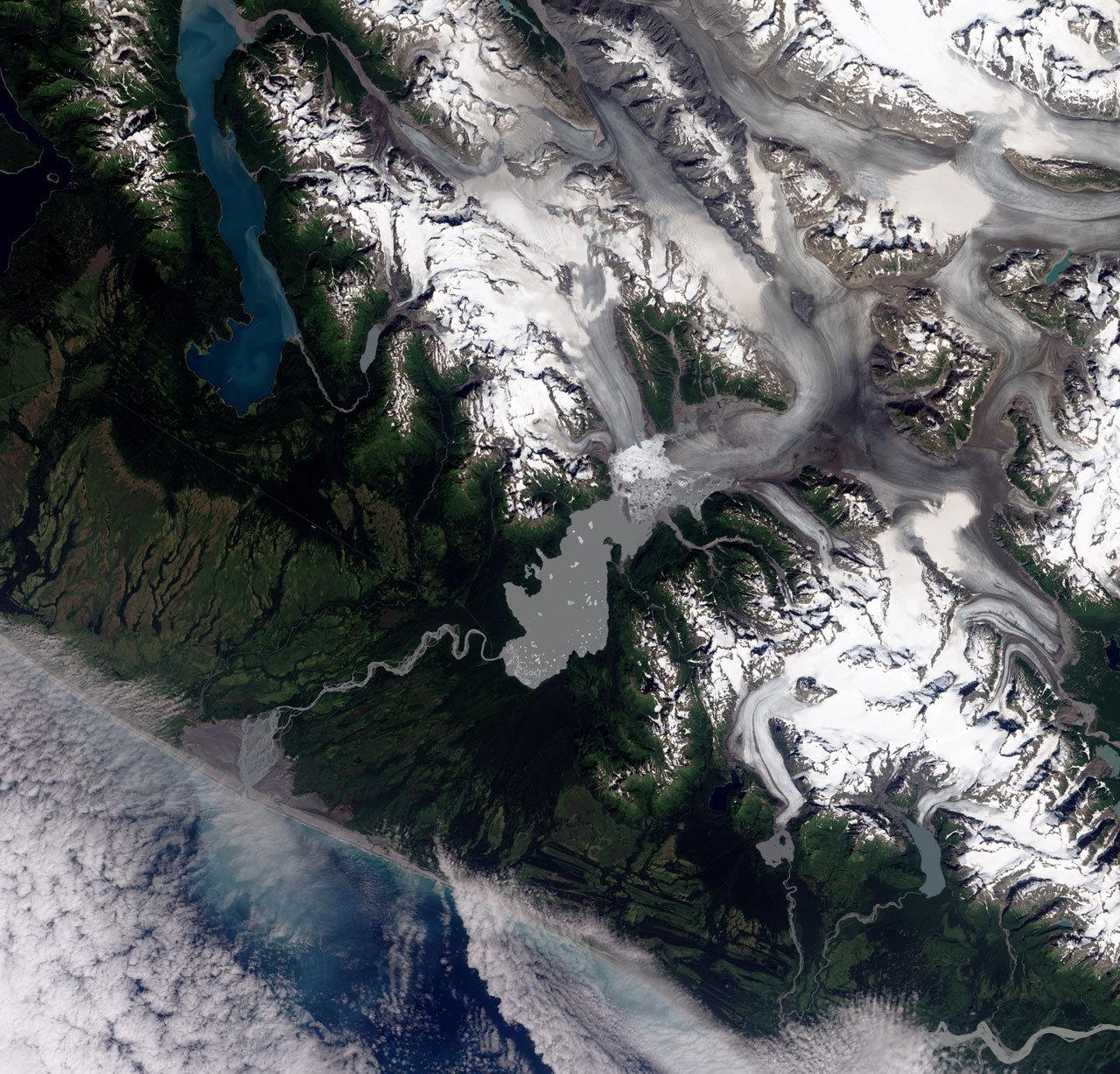 Ледник Якутат, Аляска