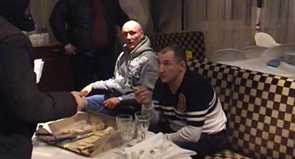 Криминальные авторитеты Павел Алексиевич по кличке Паша Паштет (слева) и Константин Борисов по кличке Костыль, архивное фото