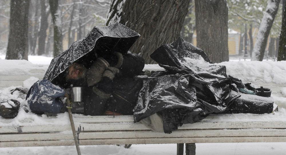 Бездомный в Санкт-Петербурге