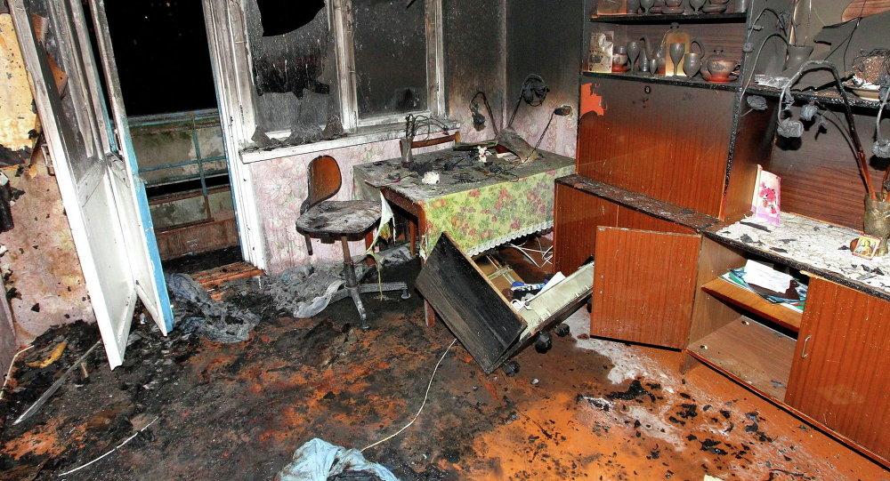 Пожар на улице Седых в Минске