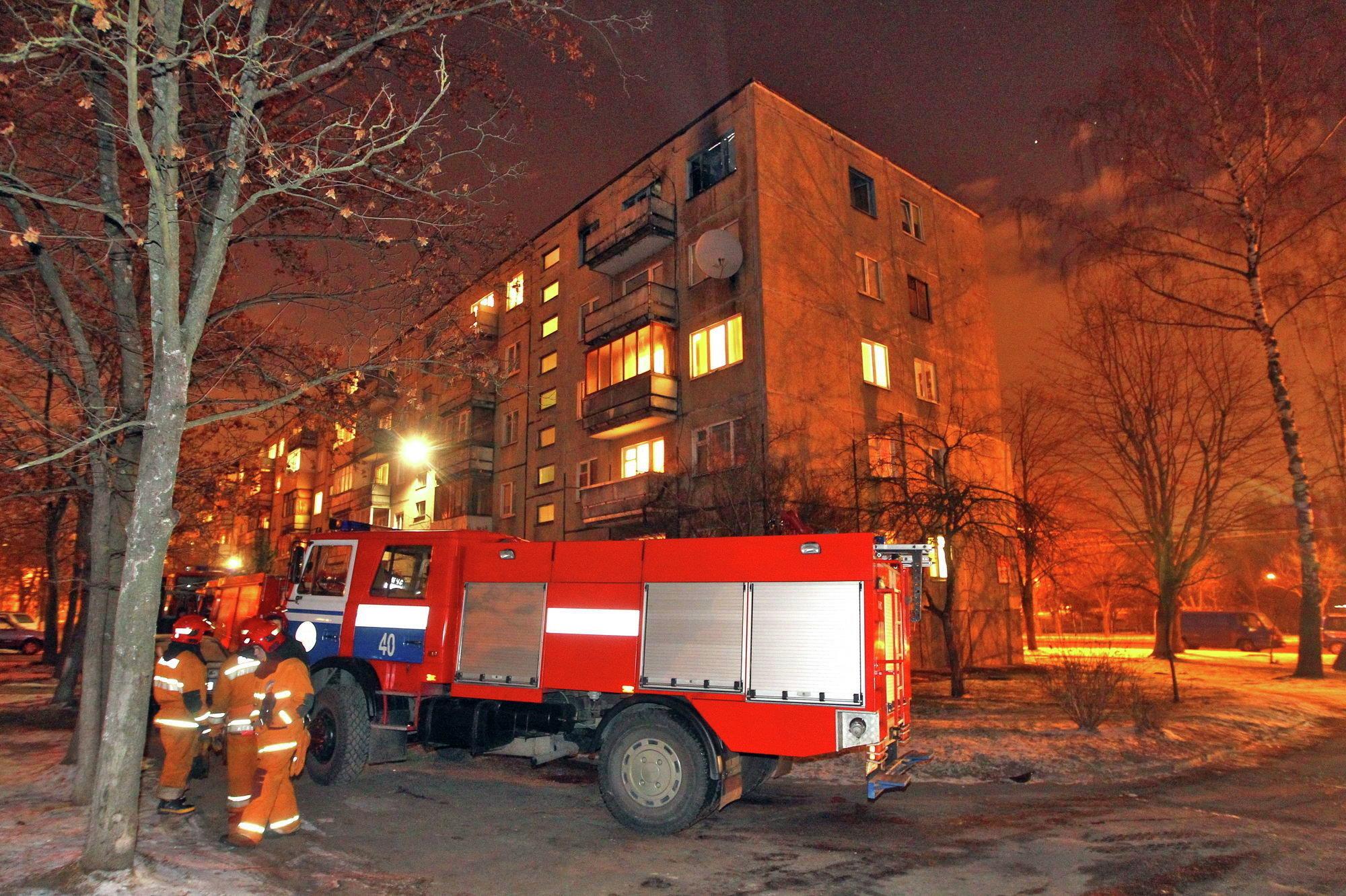 Пожар на улице Седых