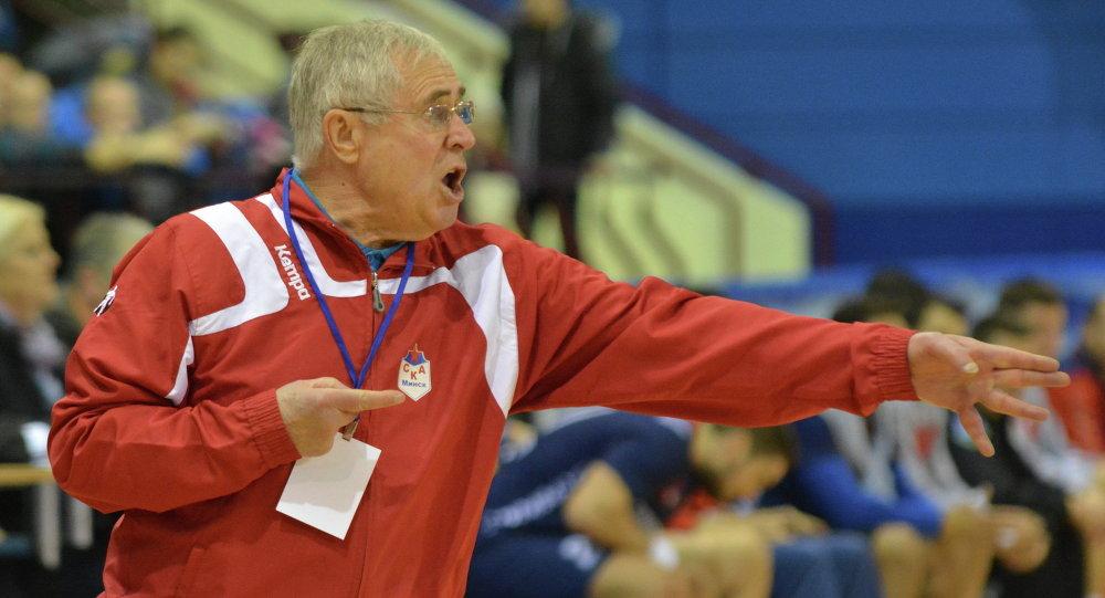 Главный тренер СКА Спартак Миронович на матче СКА – «Войводина»