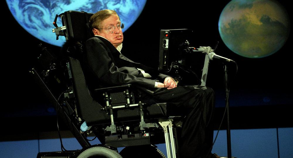 Стивен Хокинг на 50-летии NASA