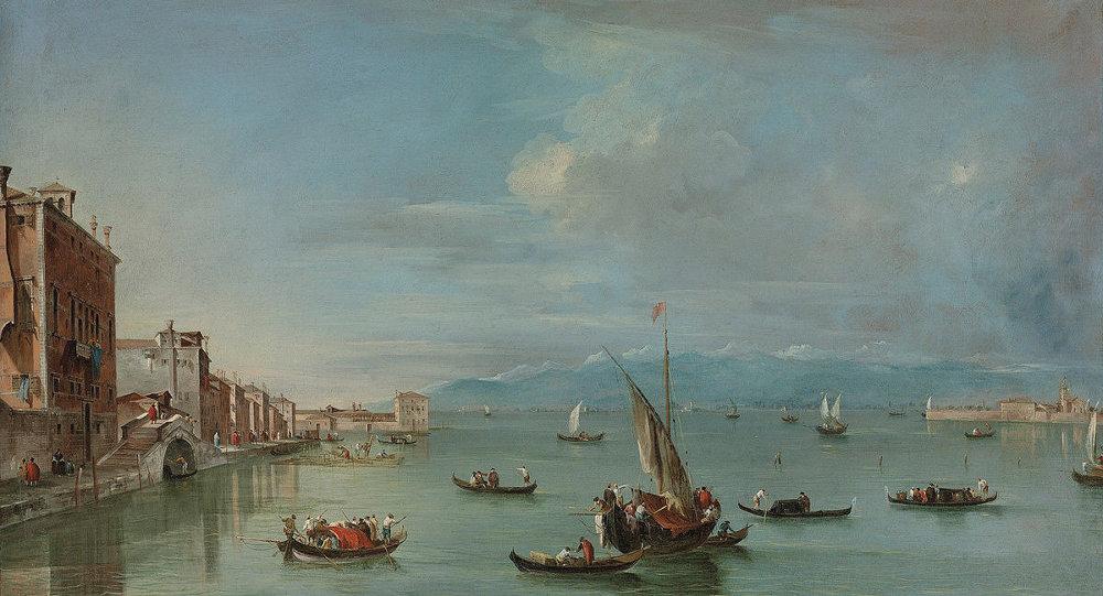 Одна из переданных государству картин Венеция Франческо Гварди