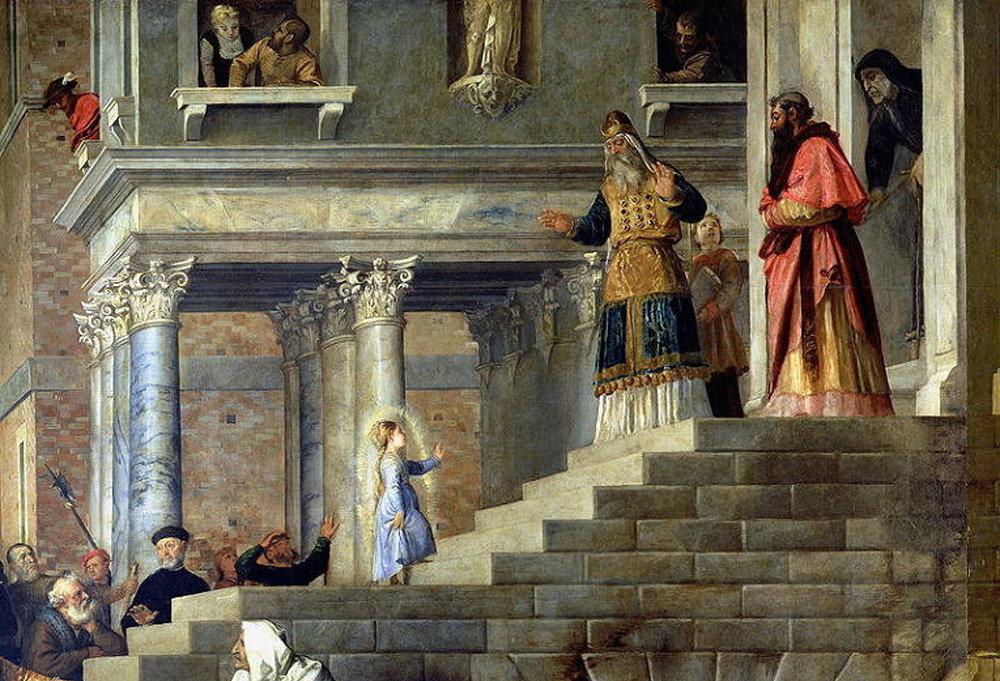Тициан. Введение во храм Пресвятой Богородицы. 1534-1538