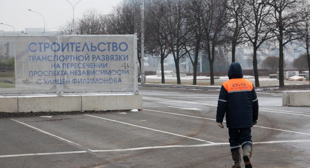 Место строительства развязки на пересечении пр. Независимости и ул. Филимонова в Минске