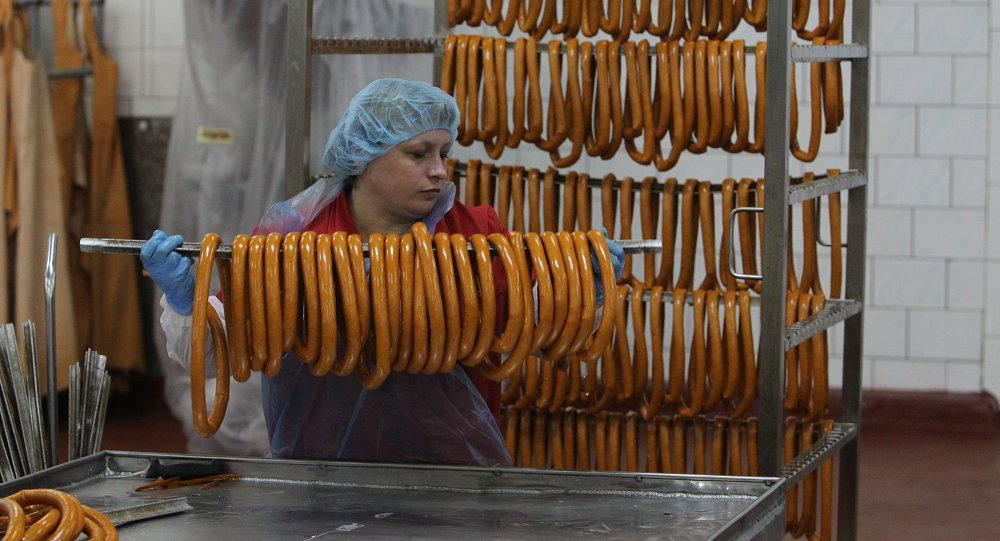 На белорусском мясоперерабатывающем предприятиии