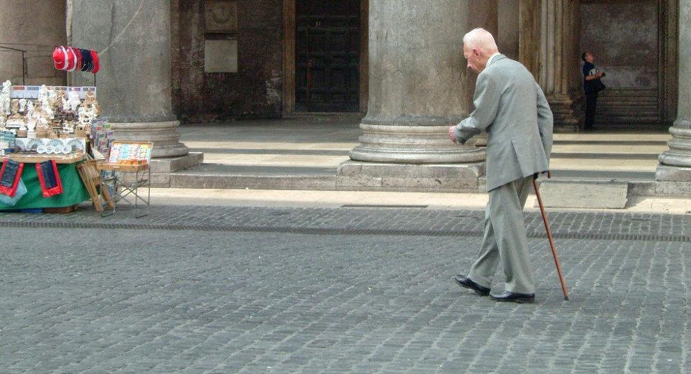 Пожилой итальянец