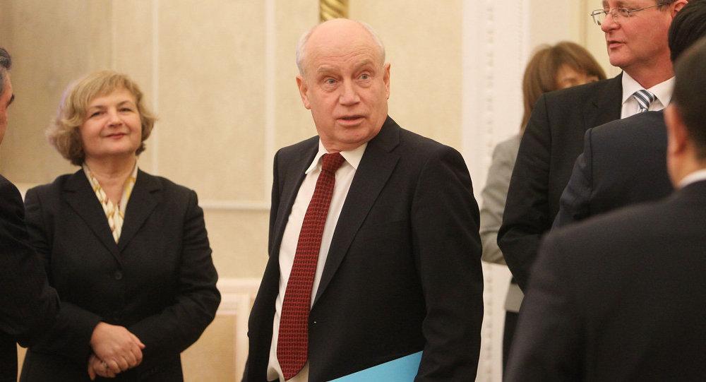 Исполнительный секретарь СНГ Сергей Лебедев на заседании Совета постоянных полномочных представителей государств