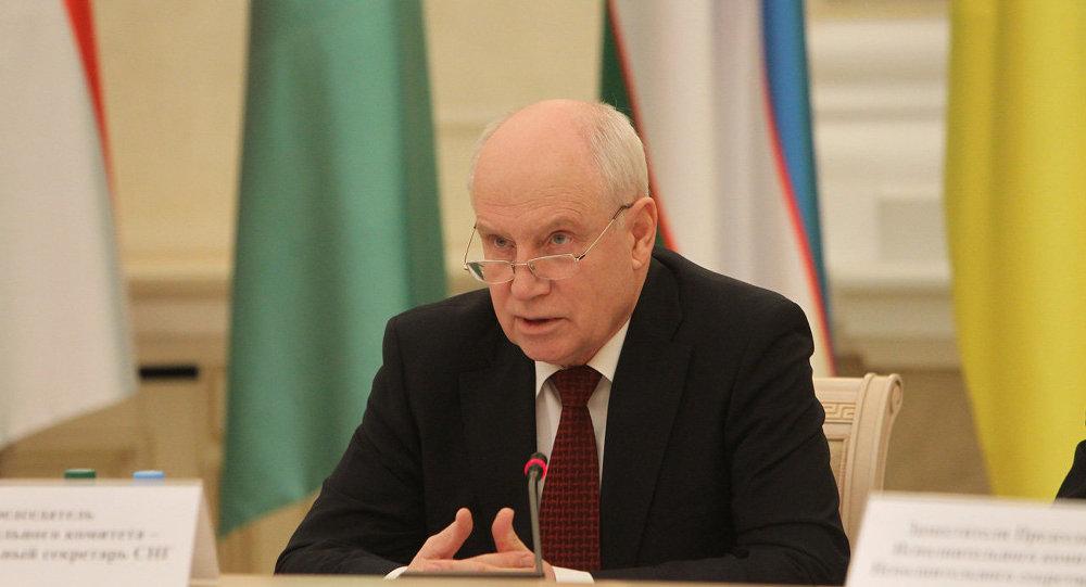 Исполнительный секретарь СНГ Сергей Лебедев на заседании Совета постоянных полномочных представителей государст