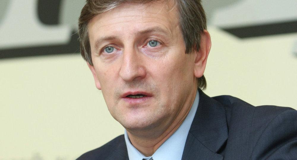 Пресс-конференция кандидата на пост президента Белоруссии Ярослава Романчука