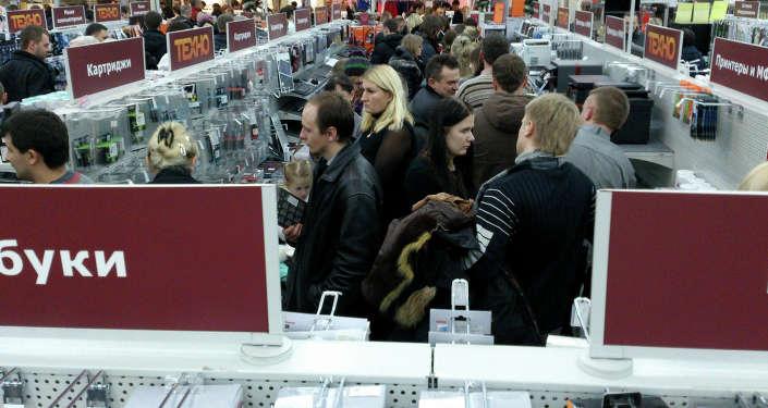 Ажиотаж в магазинах