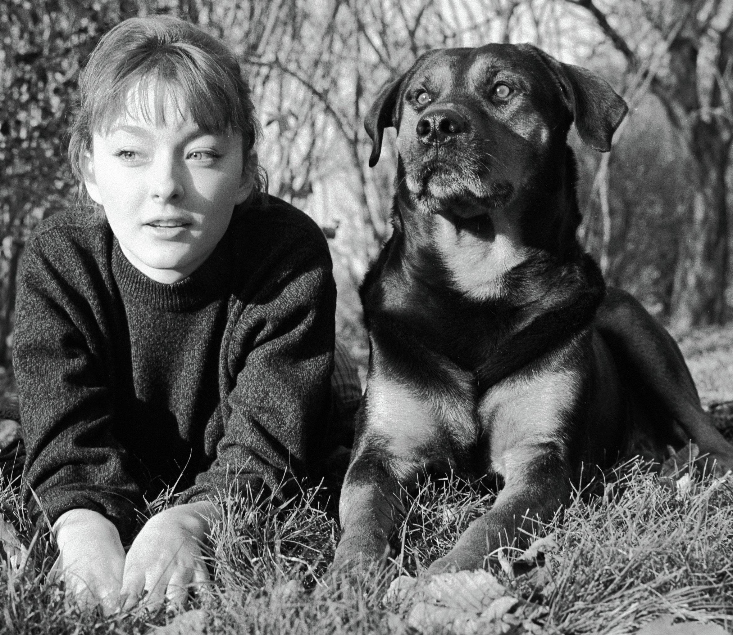 Анастасия Вертинская с собакой Джимом
