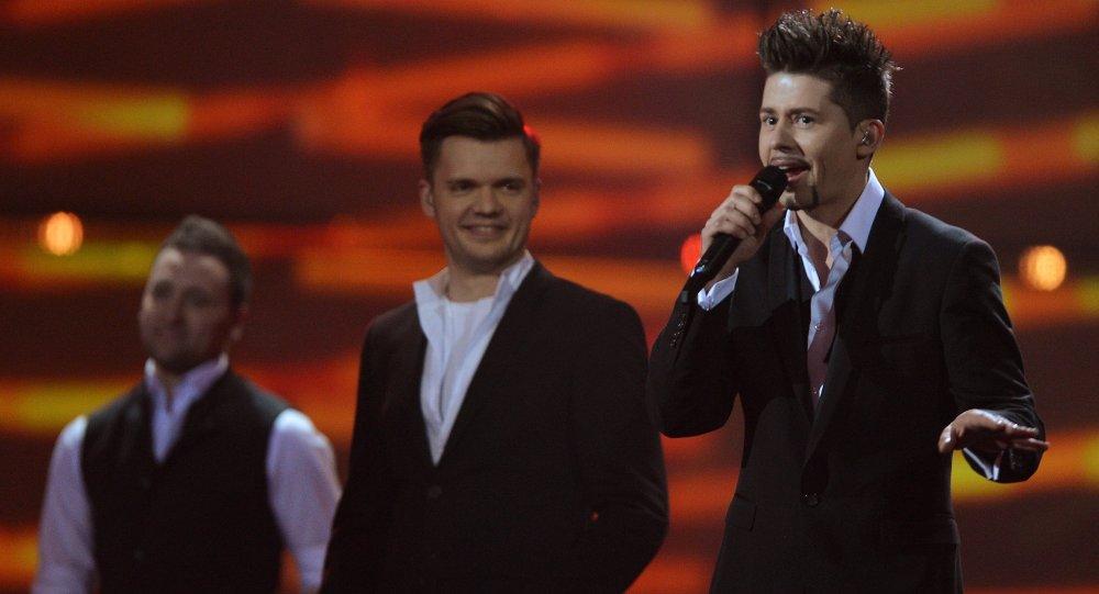 Представитель Беларуси певец Тео выступает в финале Евровидение-2014