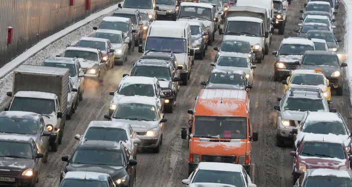 Снегопад в Москве, архивное фото