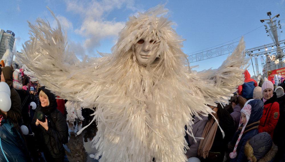 Шествие Дедов Морозов в Минске