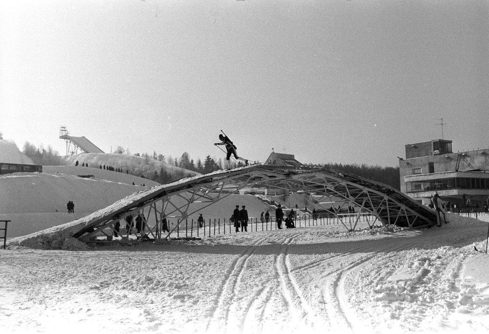 Масток на лыжным стадыёне Раўбічы