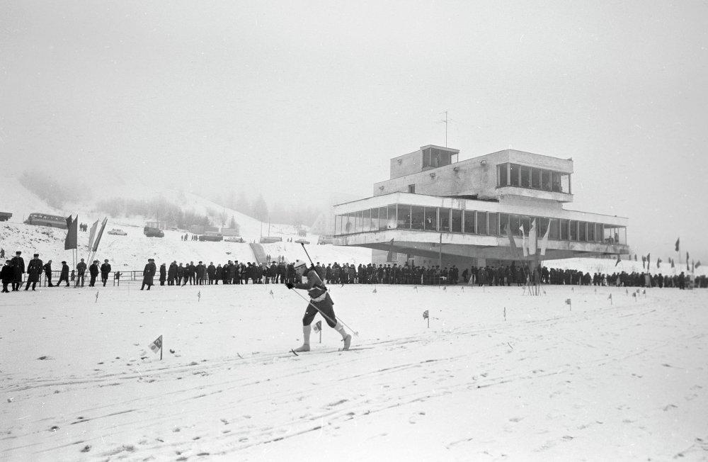 Спаборніцтвы біятланістаў у алімпійскім спорткомплексе Раўбічы