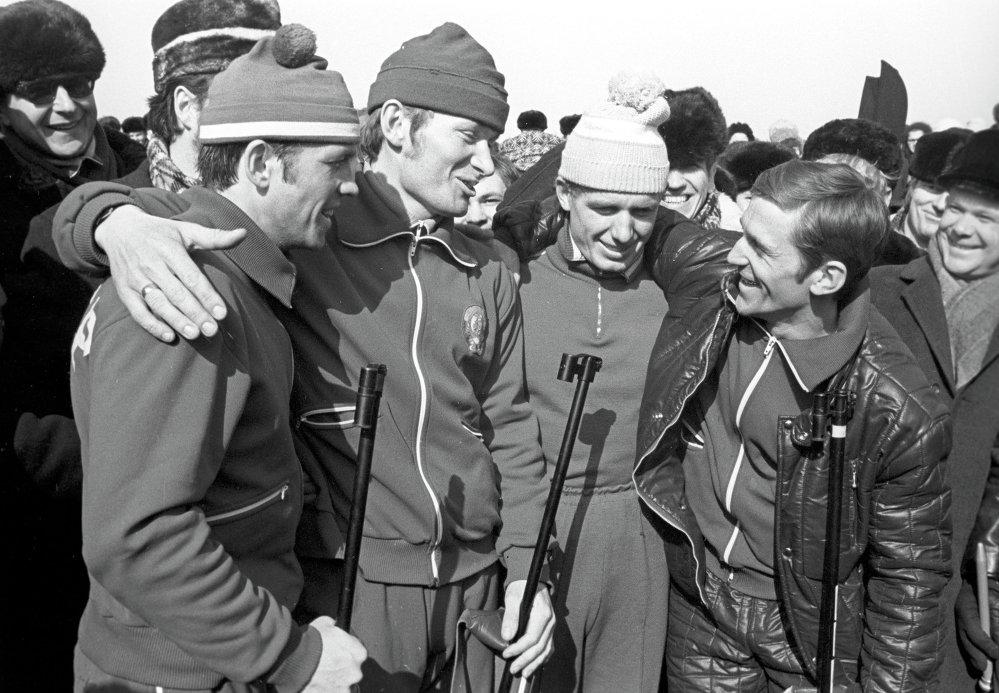 Савецкія біятланісты на Чэмпіянаце свету па біятлоне 1974 года ў Раўбічах