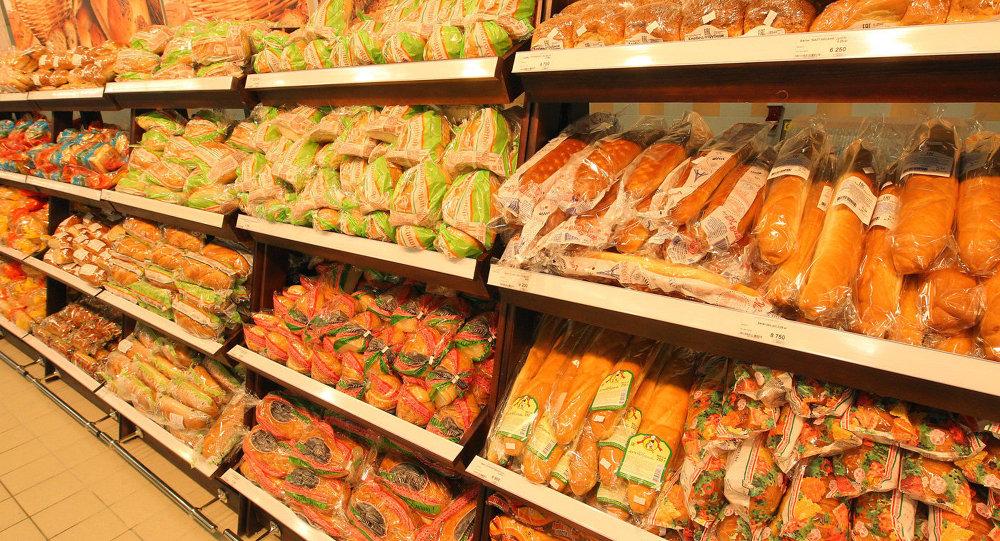 Хлебны аддзел супермаркета