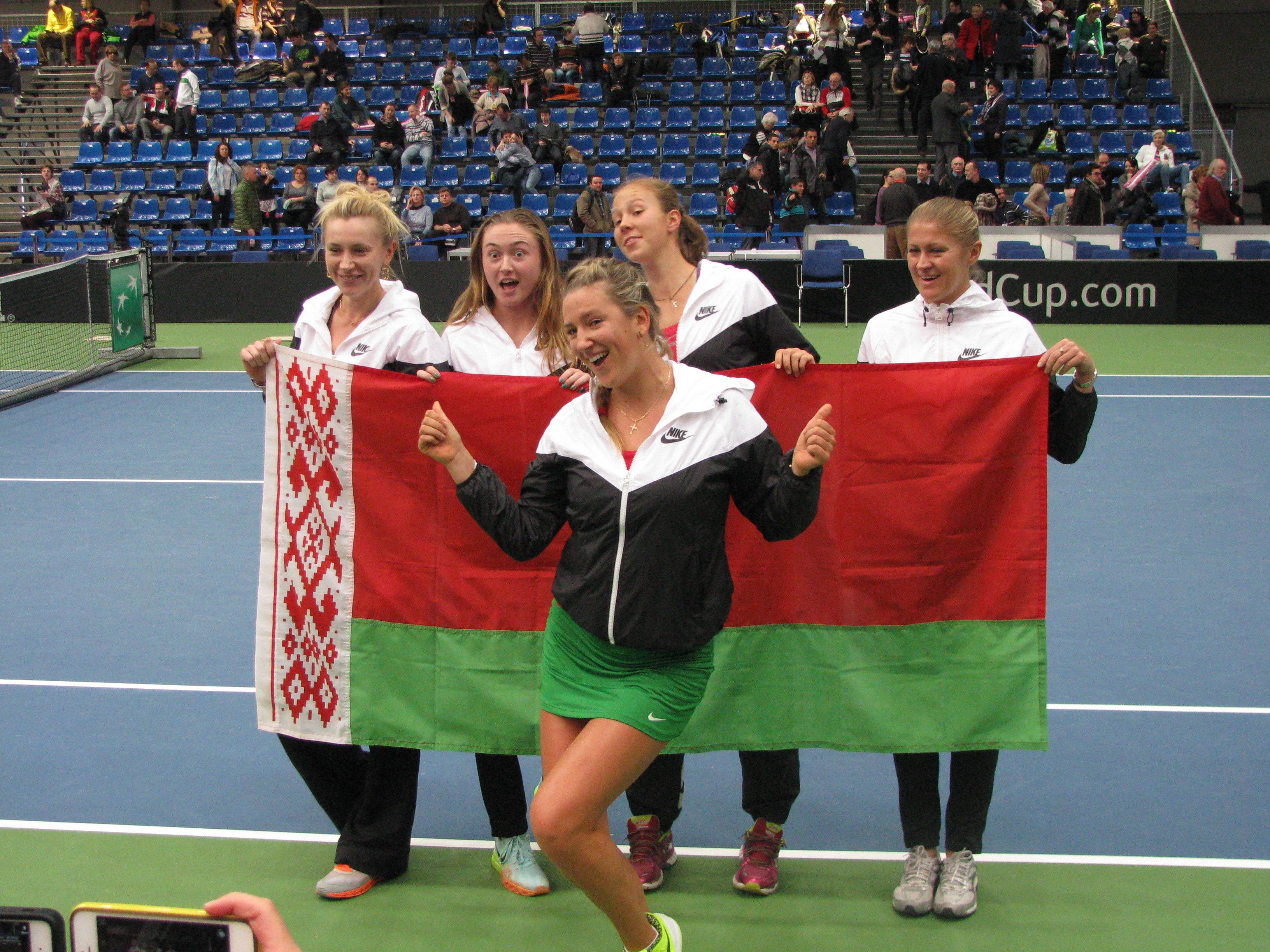 Сборная Беларуси по теннису на Кубке мира в Будапеште