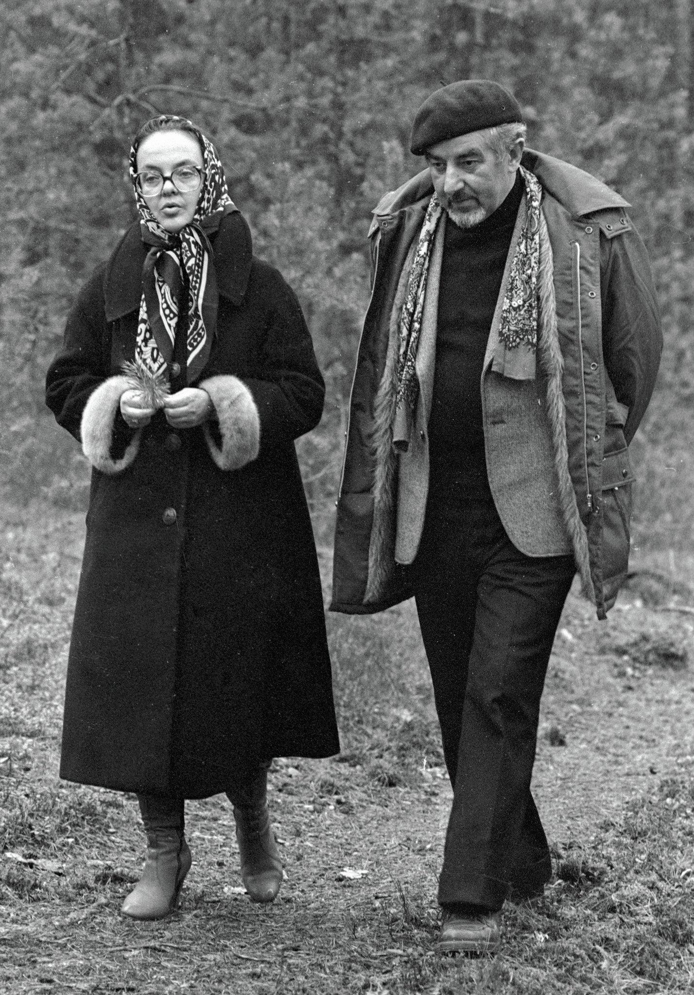 Поэт Рыгор Бородулин с женой Валентиной