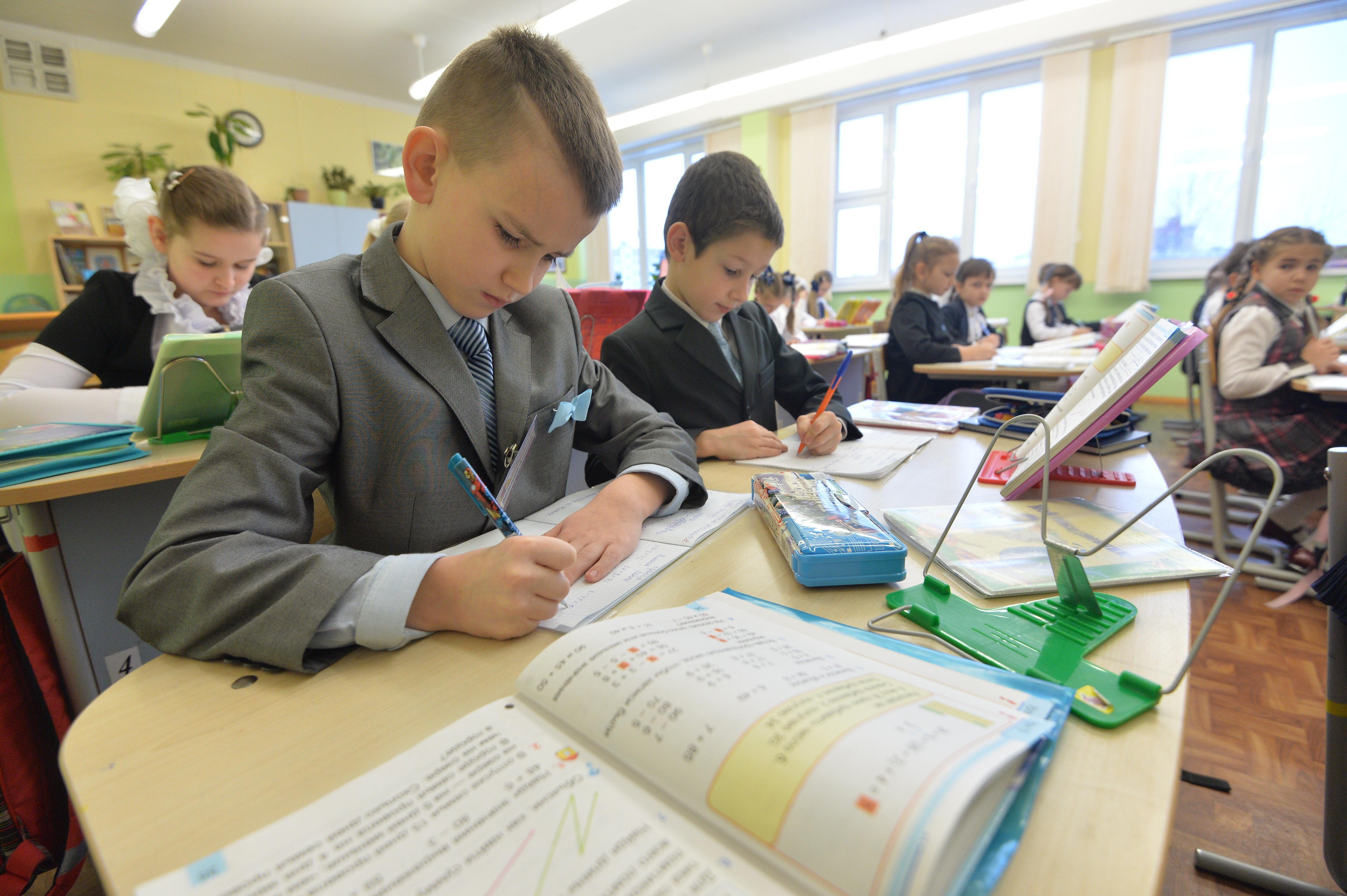 Урок математики в минской гимназии
