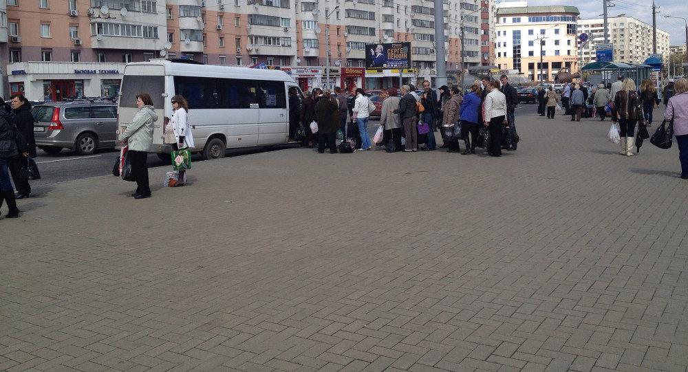 Прыпынак транспарту ў Мінску